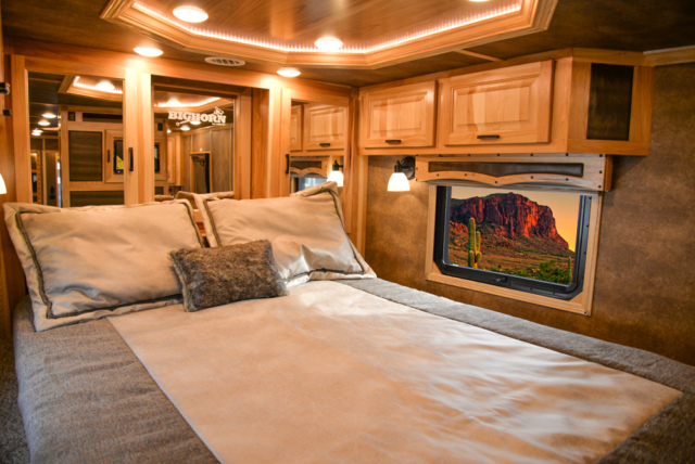Bed in a BLE8X18CE Bighorn Edition Livestock Trailer | Lakota Trailers