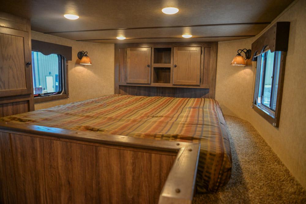 Bed in C8X13SR | Lakota Trailers