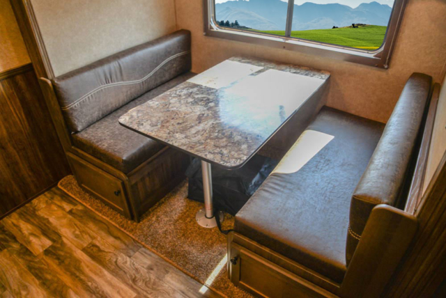 Dinette in LE8X16BB Charger Edition Livestock Trailer   Lakota Trailers