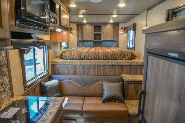Living Quarters in a CX9SR Charger Edition Horse Trailer | Lakota Trailers
