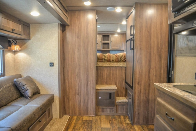 Living Quarters in CX11 Charger Edition Horse Trailer | Lakota Trailers