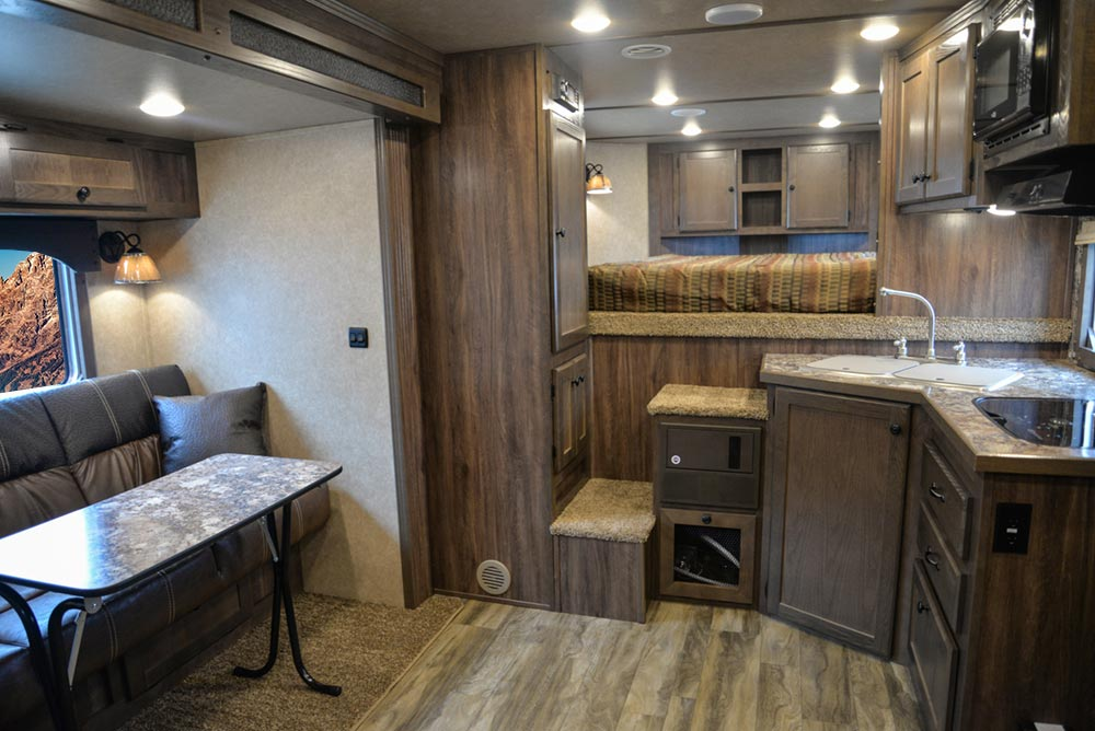 Living Quarters in C8X11 Charger Edition Horse Trailer | Lakota Trailers