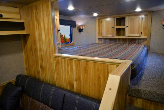 Bed in Gooseneck in C8X15SRB Charger Edition Horse Trailer | Lakota Trailers