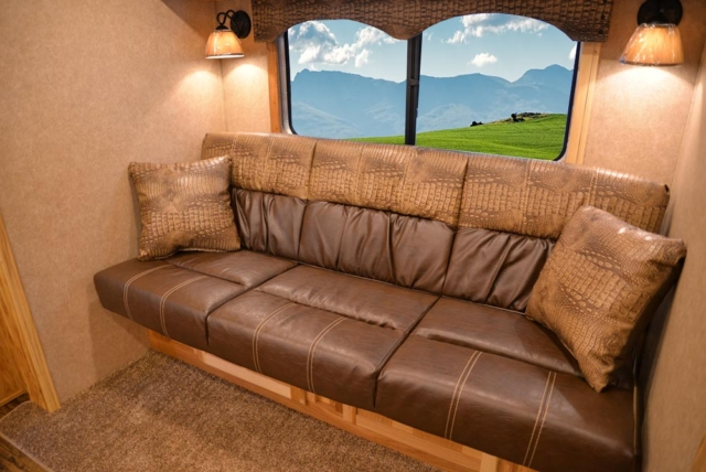Sofa in C8X11RK Charger Edition Horse Trailer   Lakota Trailers