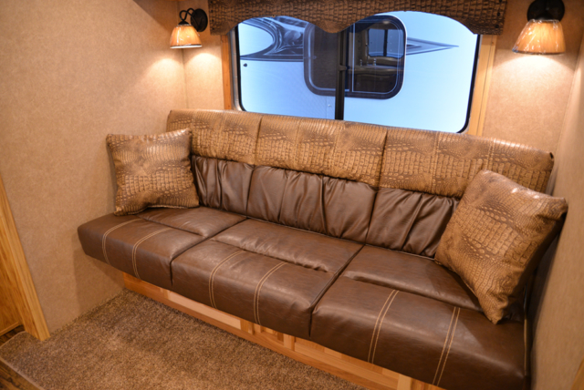 Sofa in a Charger Edition C8X11RK Horse Trailer | Lakota Trailers