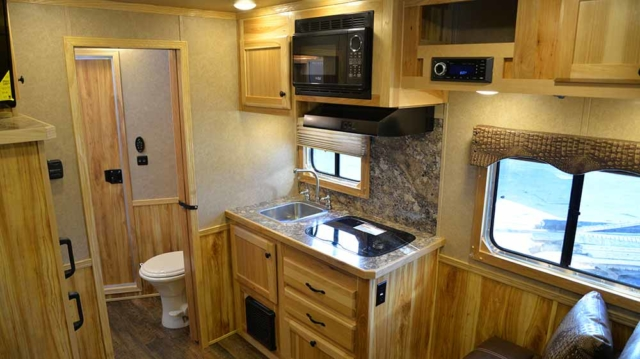 Living Quarters in Charger C8X9SR Horse Trailer | Lakota Trailers