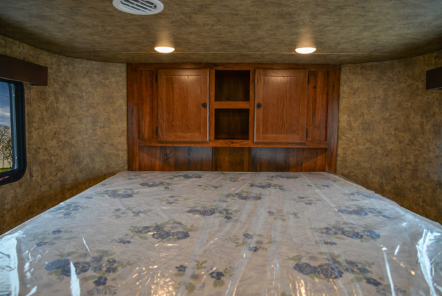 Bed in Gooseneck in AC8X15 Colt Edition Horse Trailer | Lakota Trailers