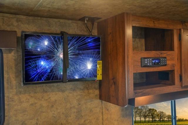TV in AC8X15 Colt Edition Horse Trailer | Lakota Trailers