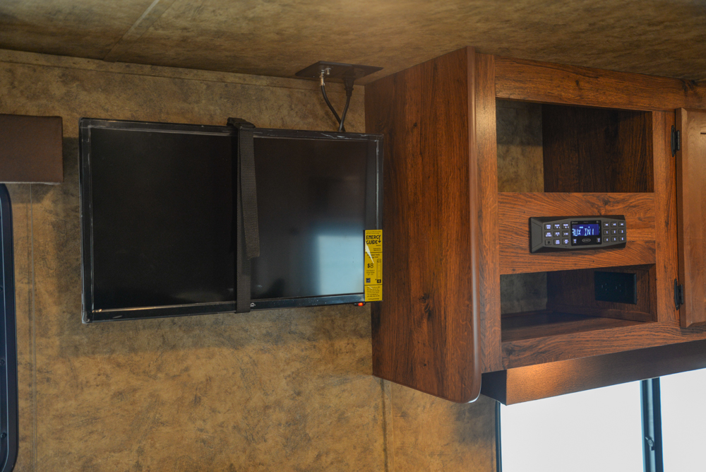 Entertainment System in a Colt AC8415 | Lakota Trailers