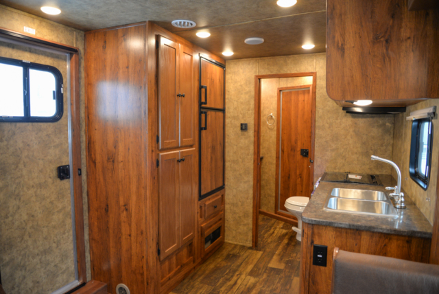 Living Quarters in a Colt AC8415 | Lakota Trailers