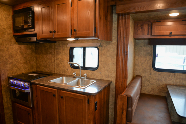 Kitchen in a Colt AC8415 | Lakota Trailers
