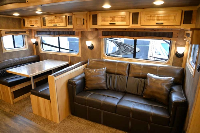 Sofa in Bighorn BH8X192S Horse Trailer | Lakota Trailers
