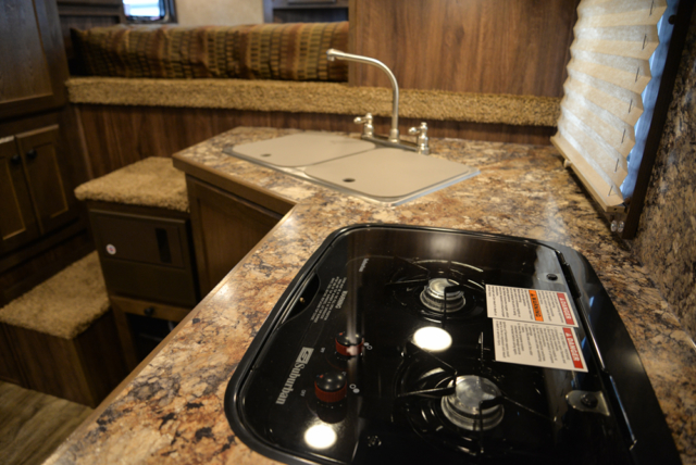 Stove Top in a C8X11 Charger Edition Horse Trailer   Lakota Trailers