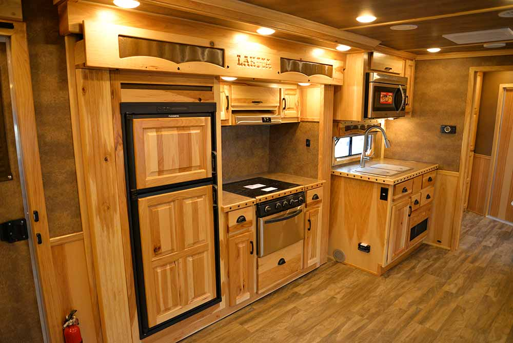 Kitchen in Bighorn BH8X192S Horse Trailer | Lakota Trailers