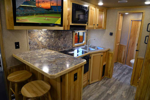 Kitchen Area in C8X15SRB Charger Edition Horse Trailer | Lakota Trailers