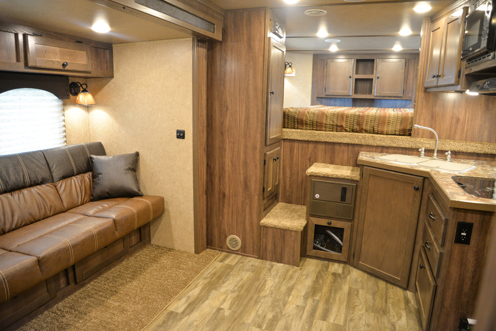 Living Quarters in a C8X11 Charger Edition Horse Trailer | Lakota Trailers