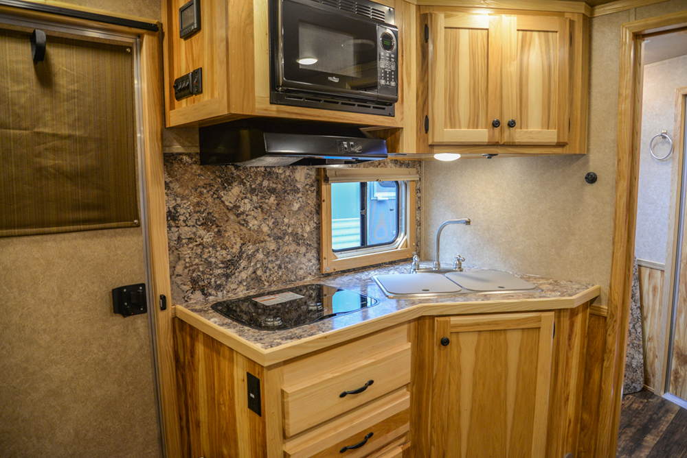 Kitchen in a Charger Edition C8X11RK Horse Trailer | Lakota Trailers