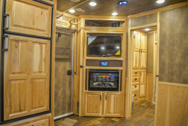Entertainment System in a BH8X15FKP Big Horn Edition Horse Trailer | Lakota Trailers