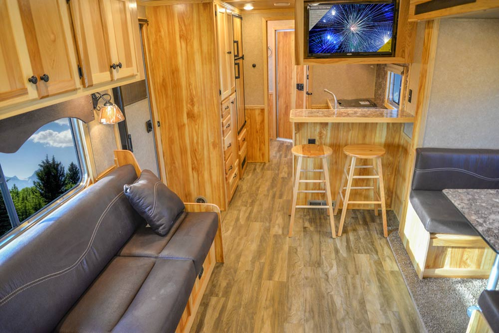 Living Quarters in C8X15RKB Charger Edition Horse Trailer | Lakota Trailers