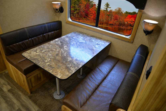 Dinette in C8X15SRB Charger Edition Horse Trailer | Lakota Trailers