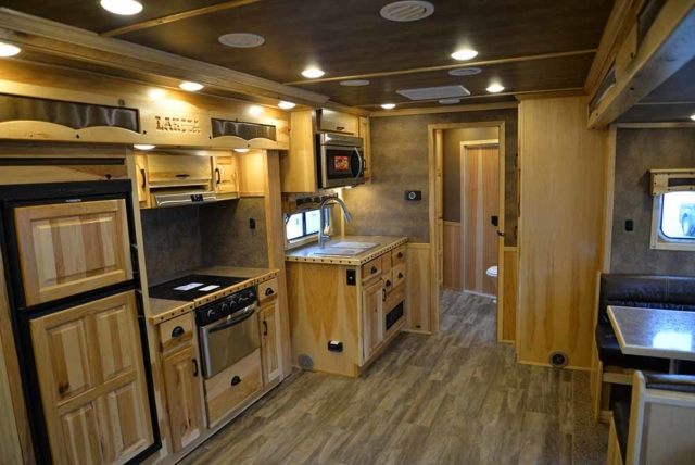 Living Area in Bighorn BH8X192S Horse Trailer | Lakota Trailers