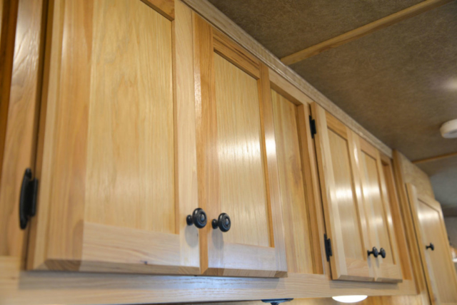 Cabinets in a Charger C8X13.5 Horse Trailer | Lakota Trailers