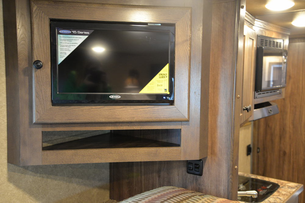TV in a C8X11 Charger Edition Horse Trailer | Lakota Trailers