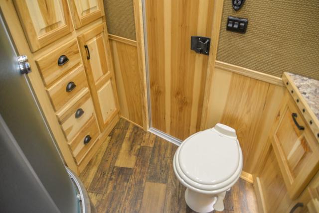 Bathroom in a BH8X15FKP Big Horn Edition Horse Trailer   Lakota Trailers