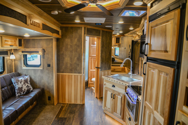 Living Quarters in a BH8X23T2S Bighorn Edition Horse Trailer | Lakota Trailers