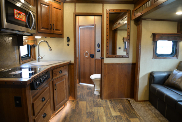 Living Quarters  in a BH8X11RK Big Horn Edition Horse Trailer | Lakota Trailers