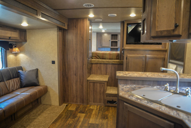 Living Quarters in a C8X13RKB Charger Edition Horse Trailer | Lakota Trailers