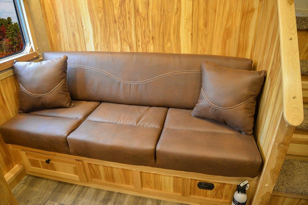 Sofa in C8X11SR Charger Edition Horse Trailer | Lakota Trailers