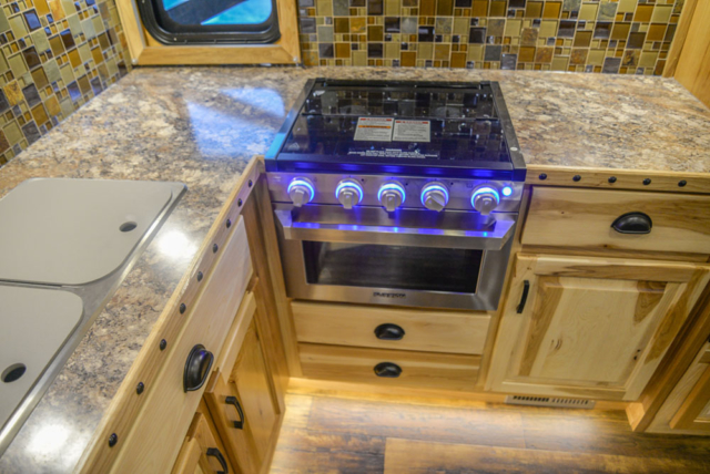 Kitchen Top in a BH8X15FKP Big Horn Edition Horse Trailer | Lakota Trailers