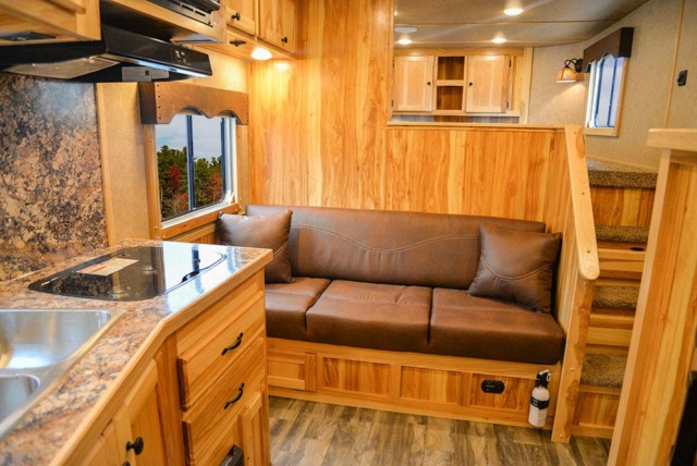 Living Quarters in C8X11SR Charger Edition Horse Trailer | Lakota Trailers