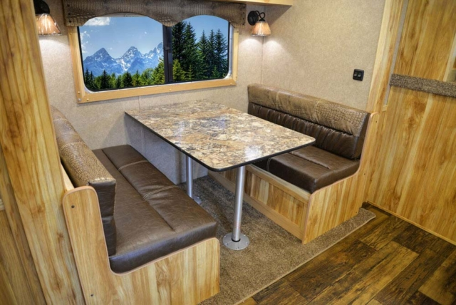Dinette in C8X9 Charger Edition Horse Trailer | Lakota Trailers