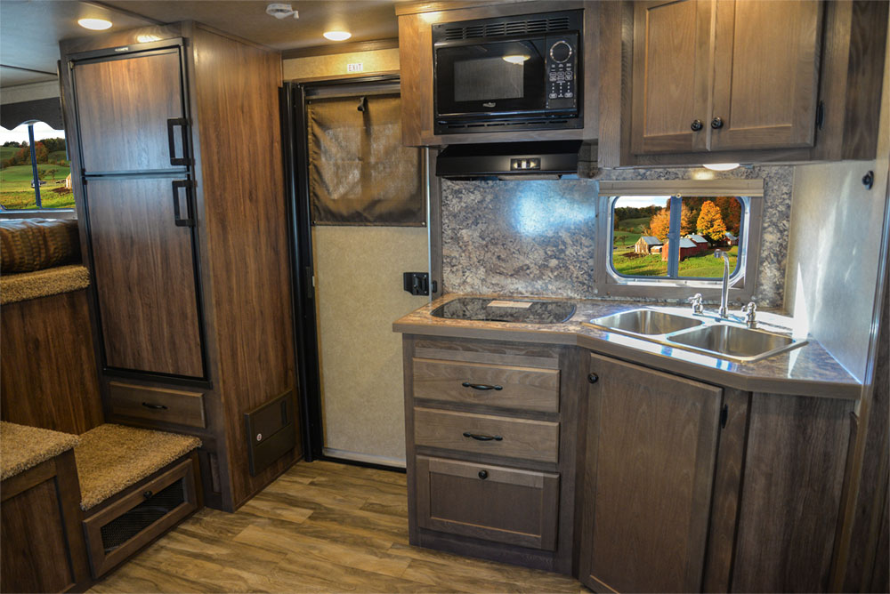 Kitchen in a LE8X11RK Charger Edition Livestock Trailer | Lakota Trailers