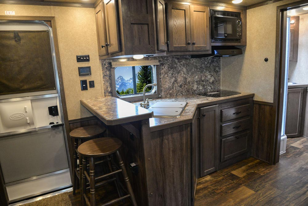Kitchen in C8X13RKB Charger Edition Horse Trailer | Lakota Trailers