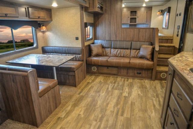 Living Quarters in C8X15SR Charger Edition Horse Trailer | Lakota Trailers