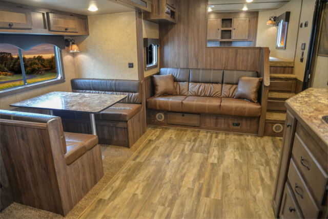 Living Quarters in a C8X15SR Charger Edition Horse Trailer | Lakota Trailers