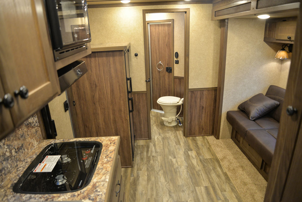 Living Quarters in a CX11 Charger Edition Horse Trailer | Lakota Trailers