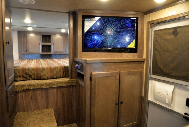 Entertainment System in C8X13RKB Charger Edition Horse Trailer | Lakota Trailers
