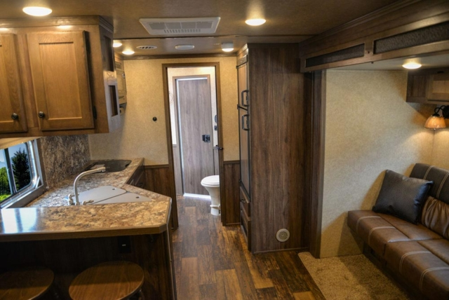 Living Quarters in C8X13RKB Charger Edition Horse Trailer | Lakota Trailers