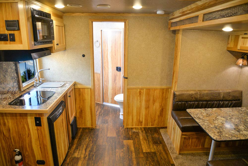 Living Quarters in C8X9 Charger Edition Horse Trailer | Lakota Trailers